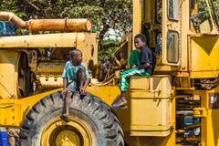 Malgasz chłopiec w Madagascar, Afryka Zdjęcia Stock