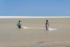 Malgasz kobiet łowić Obrazy Royalty Free