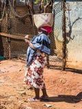 Malgasz kobieta w Antsiranana Diego Suarez, Madagascar, Afryka Obrazy Stock