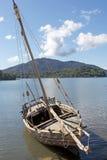 Malgasz tradycyjna łódź, Madagascar Zdjęcie Stock