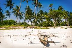 Malgasza rybaka drewniana ręcznie robiony łódź Obrazy Royalty Free