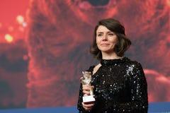 Malgorzata Szumowska, gagnant du prix argenté du grand jury d'ours chez Berlinale 2018 photos stock
