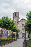 Malgrat de Mar Costa Brava Spain. Church in Malgrat de Mar Costa Brava Spain Royalty Free Stock Photo