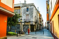 Typical Old Town Street In Barcelona Stock Photo Image Of Alley European 1400130