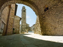 Malgrate in Lunigiana, Italy. Architecture. Ancient Medieval village in north Tuscany Stock Image