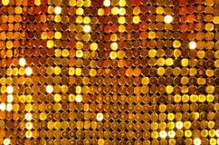 Malha de brilho dourada Foto de Stock