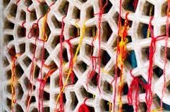 Malha de mármore coberta com as linhas sagrados que denotam um desejo Imagem de Stock