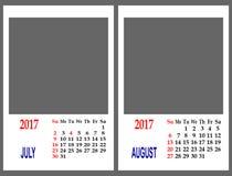 Malha do calendário Imagens de Stock Royalty Free