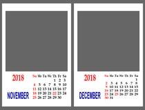 Malha do calendário Imagem de Stock Royalty Free