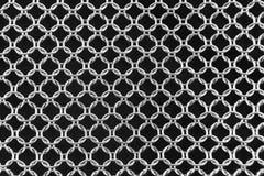 Malha do fundo dos anéis de aço Fotografia de Stock
