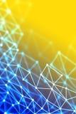 malha do wireframe 3D - nuble-se a tecnologia de rede ou o backgrou da ciência Foto de Stock