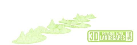 Malha gramínea verde do polígono Imagem de Stock Royalty Free