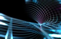 A malha ou a rede com linhas e geometrics dão forma ao detalhe illustrat 3d Imagens de Stock