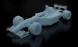 Malha pontilhada do Fórmula 1 ilustração do vetor