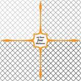 Malha Rhombic das linhas de espessura de variação Foto de Stock