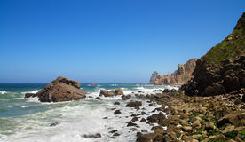 Malhada do Cedouro Beach overlooking Ursa rock Stock Images