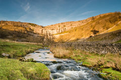 Malham Beck flows from Malham Cove Stock Photos