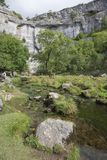 Malham Beck at Malham Cove. Yorkshire Dales National Park, England Stock Photo
