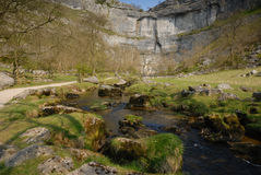 Malham Cove. The limestone Cove of Malham Royalty Free Stock Photography