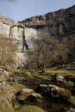 Malham Cove. Limestone cliff in Yorkshire Stock Image