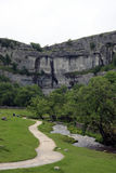 Malham Cove landscape in Yorkshire Dales Royalty Free Stock Image