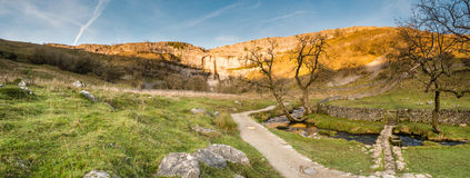 Malham Cove panorama Royalty Free Stock Image