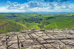 Malham cove Pavement. A view from the top of malham cove Royalty Free Stock Photo