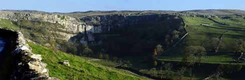 Malham Cove. From the Cove Road Royalty Free Stock Image