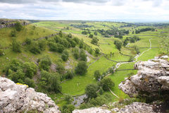 Malham cove. In Malham taken from high level over cliffs no people Stock Images