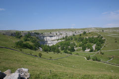 Malham Cove in Yorkshire Dales. Malham Cove in North Yorkshire near Malham Stock Image