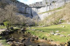 Malham Cove, Yorkshire Dales. stock photography