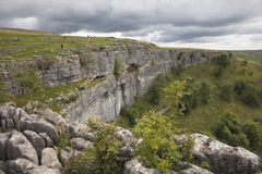 Malham Cove, Yorkshire. Dales National Park, England Royalty Free Stock Images