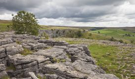 Malham Cove, Yorkshire. Dales National Park, England Stock Photography