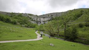 Malham Cove Yorkshire Dales National Park England UK visitor attraction
