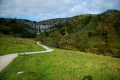 Malham Cove in the Yorkshire Dales National Park. North Yorkshire Stock Photography