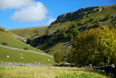 Malham Cove in the Yorkshire Dales National Park. North Yorkshire Royalty Free Stock Image