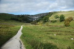 Malham Cove in the Yorkshire Dales National Park. North Yorkshire Stock Image