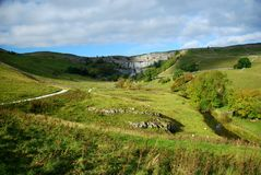 Malham Cove in the Yorkshire Dales National Park. North Yorkshire Royalty Free Stock Photo