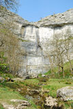 Malham Cove, Yorkshire Dales National Park (UK). Malham Cove is one of the most famous touristic attraction in Yorkshire Dales. Malham Cove is a natural Stock Photos
