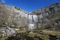 Malham Cove in the Yorkshire Dales. In northern England Royalty Free Stock Photos