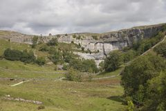 Malham Cove, Yorkshire. Malham Cove in the Yorkshire Dales National Park, England Royalty Free Stock Photos