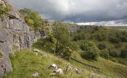 Malham Cove, Yorkshire. Dales National Park, England Stock Photos