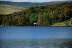 Malham Tarn jezioro blisko Malham zatoczki, fotografia royalty free