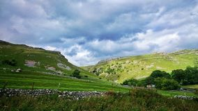 Malham Yorkshire dalar Royaltyfria Bilder