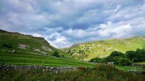 Malham Yorkshire doliny Obrazy Royalty Free