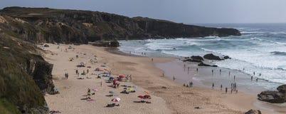 Malhao beach on Alentejo coastline. Landscape view of Malhao beach on Alentejo coastline Royalty Free Stock Photography