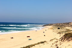 Malhao beach, Alentejo, Portugal Royalty Free Stock Images