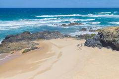 Malhao beach,  Vila Nova de Milfontes. Alentejo, Portugal Stock Photo