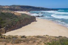 Malhao beach,  Vila Nova de Milfontes. Alentejo, Portugal Stock Photos