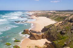 Malhao beach,  Vila Nova de Milfontes. Alentejo, Portugal Royalty Free Stock Image